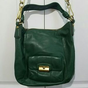 Coach Green Leather Kristin Handbag Purse